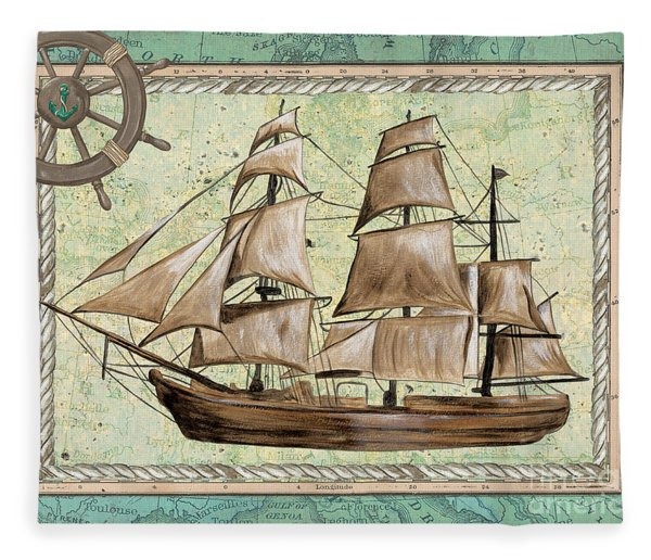 Aqua Maritime 1 Fleece Blanket