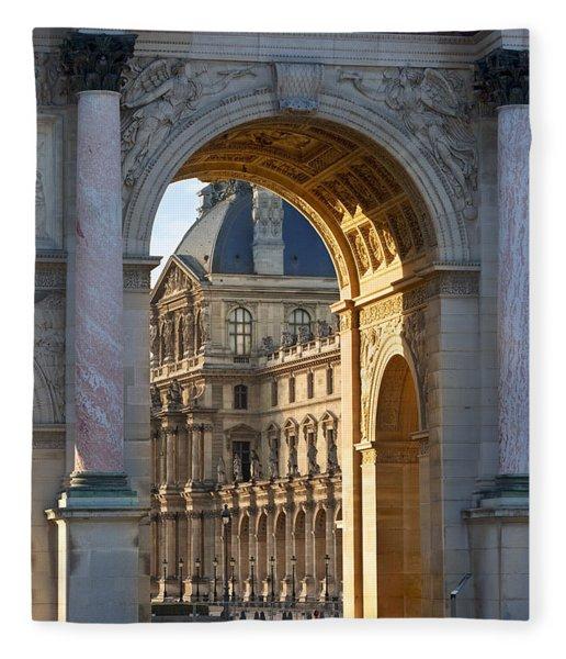 Fleece Blanket featuring the photograph Arc De Triomphe Du Carrousel by Brian Jannsen