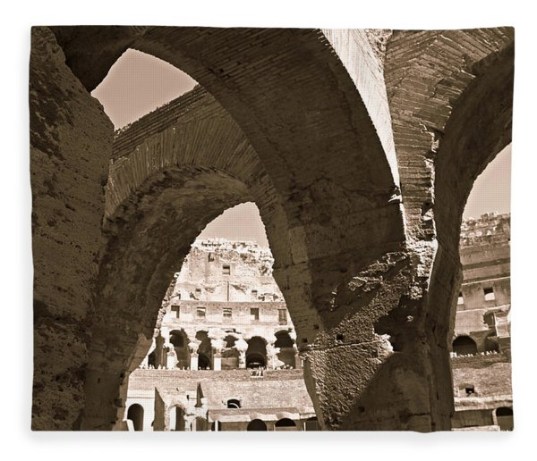 Arches In The Colosseum Fleece Blanket