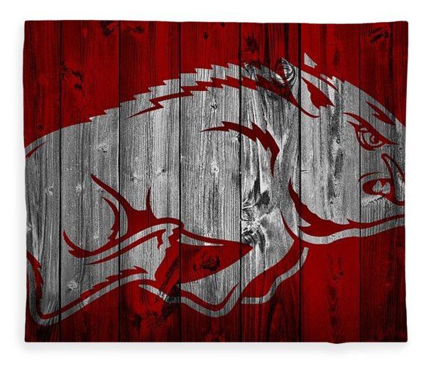 Arkansas Razorbacks Barn Door Fleece Blanket