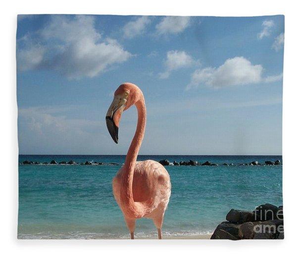 Aruba Hairy Eyeball Fleece Blanket