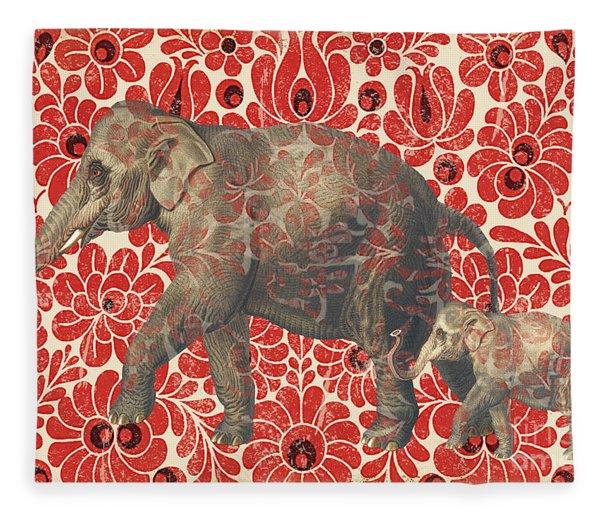 Asian Elephant-jp2185 Fleece Blanket