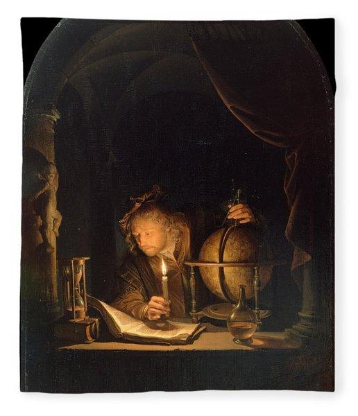 Astronomer By Candlelight Fleece Blanket