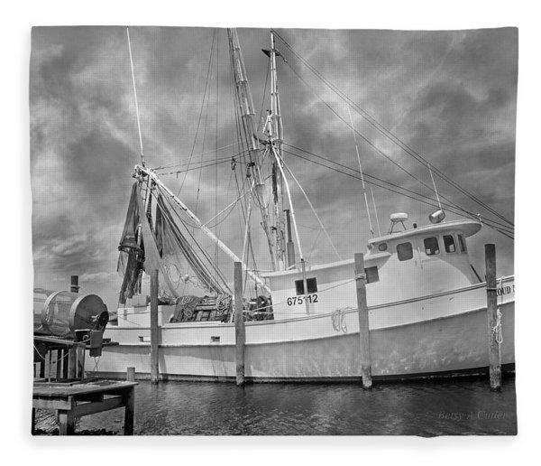 At Rest In The Harbor Fleece Blanket