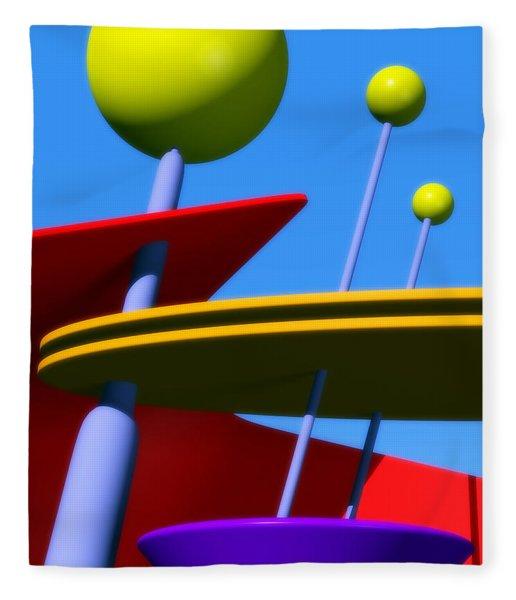 Atomic Dream Fleece Blanket