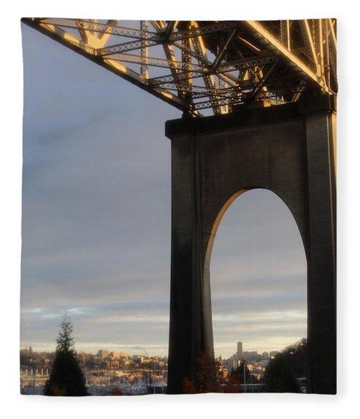 Aurora Bridge Seattle Washington  Fleece Blanket
