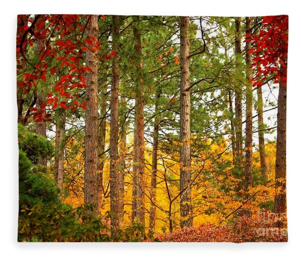 Autumn Canvas Fleece Blanket