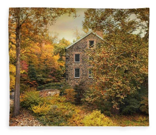 Autumn Stone Mill Fleece Blanket