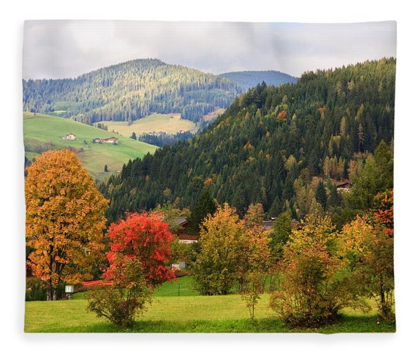 Autumnal Colours In Austria Fleece Blanket