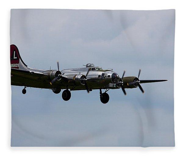 B-17 Yankee Lady Fleece Blanket