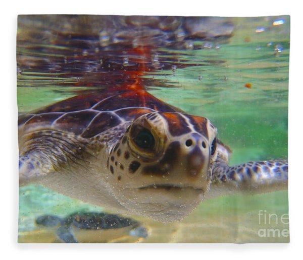 Baby Turtle Fleece Blanket