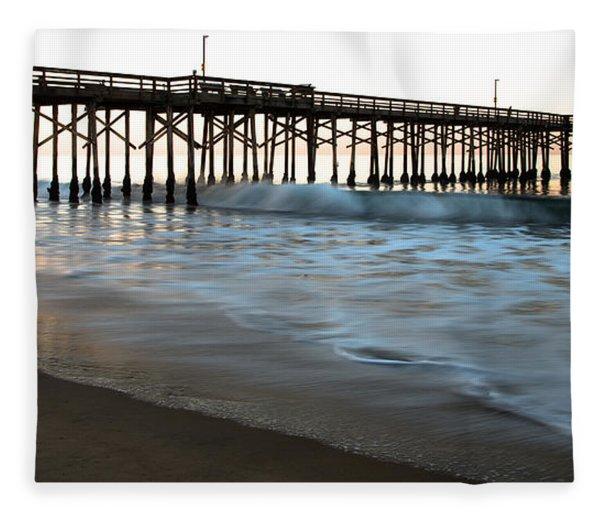 Balboa Pier  Fleece Blanket