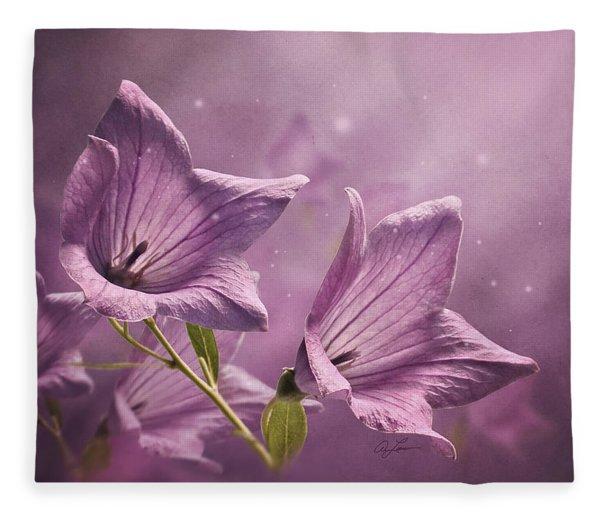 Balloon Flowers Fleece Blanket