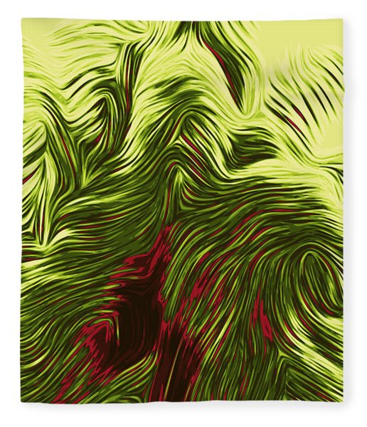 Fleece Blanket featuring the digital art Bamboo Tree by Matt Lindley