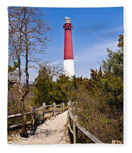 Barnegat Lighthouse II Fleece Blanket