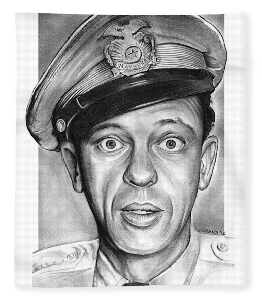 Barney Fife Fleece Blanket
