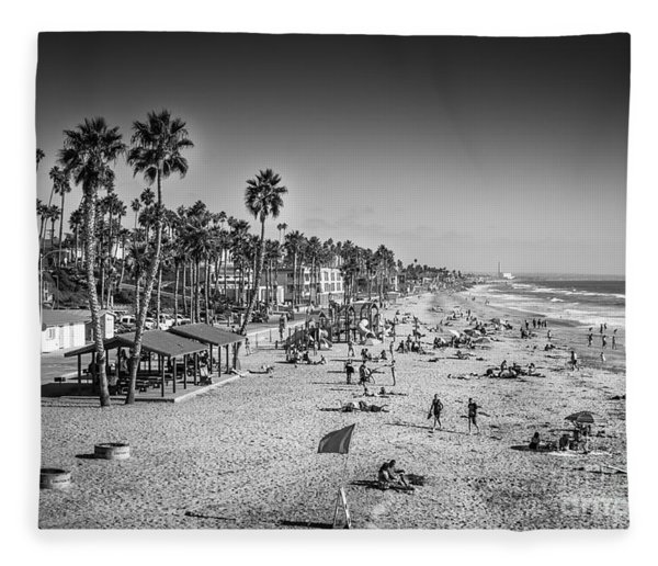 Beach Life From Yesteryear Fleece Blanket
