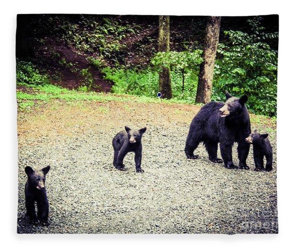 Bear Family Affair Fleece Blanket