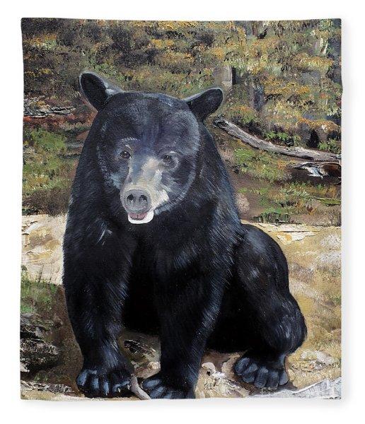 Bear - Wildlife Art - Ursus Americanus Fleece Blanket