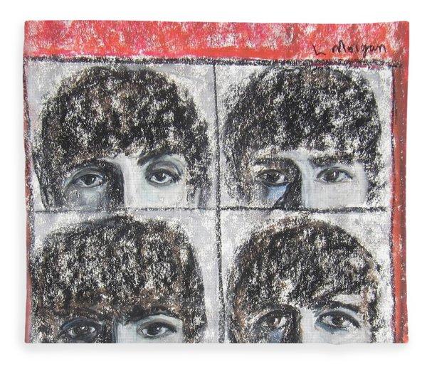Beatles Hard Day's Night Fleece Blanket