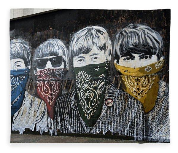 Beatles Street Mural Fleece Blanket