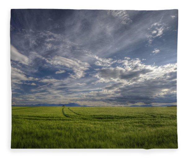Beautiful Countryside Fleece Blanket