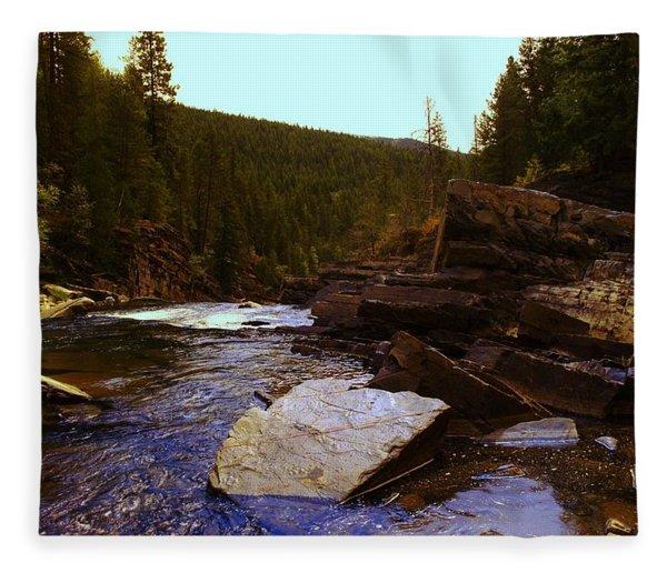 Beautiful Yak River Montana Fleece Blanket