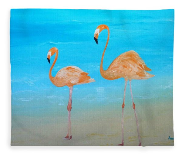Beauty And Grace Fleece Blanket