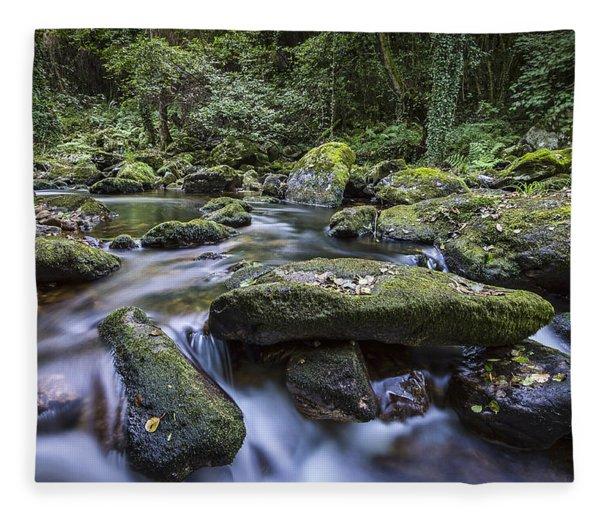 Belelle River Neda Galicia Spain Fleece Blanket