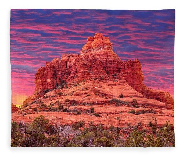 Bell Rock Sunset Fleece Blanket
