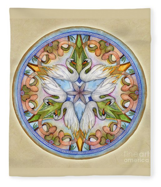 Beloved Mandala Fleece Blanket