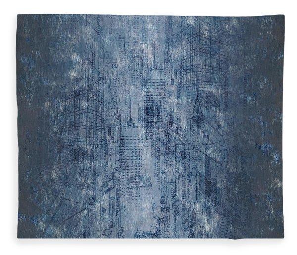 Fleece Blanket featuring the digital art Big City by Matt Lindley