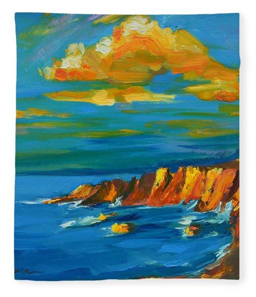 Big Sur At The West Coast Of California Fleece Blanket