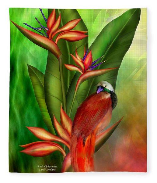 Birds Of Paradise Fleece Blanket