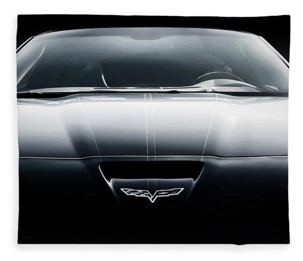Black Grand Sport Corvette Fleece Blanket