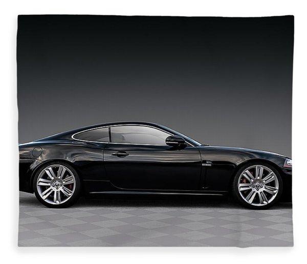 Black Jag Fleece Blanket