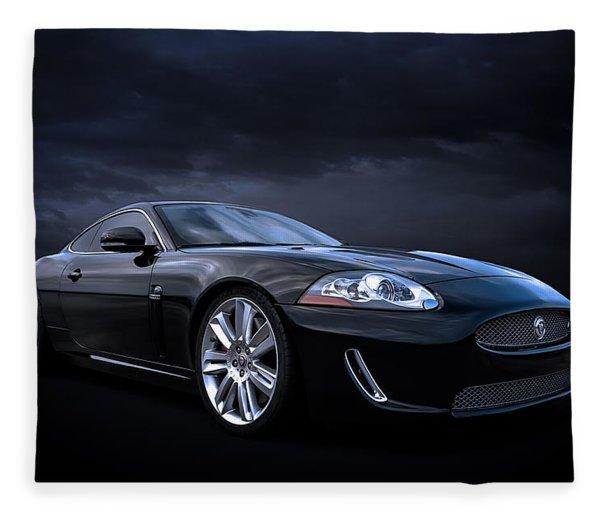 Black Jaguar Fleece Blanket