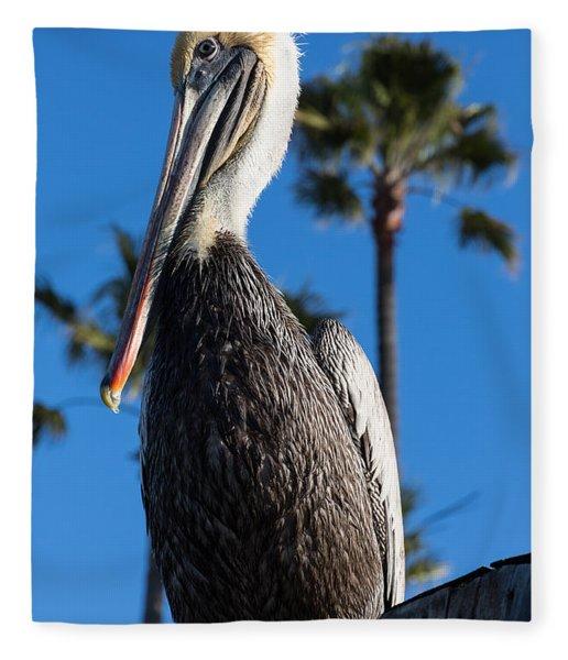 Blond Pelican Fleece Blanket
