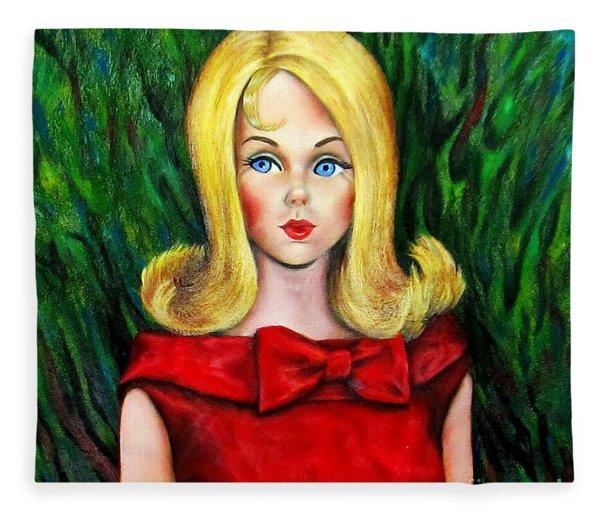 Blonde Marlo Flip Tnt Barbie Fleece Blanket