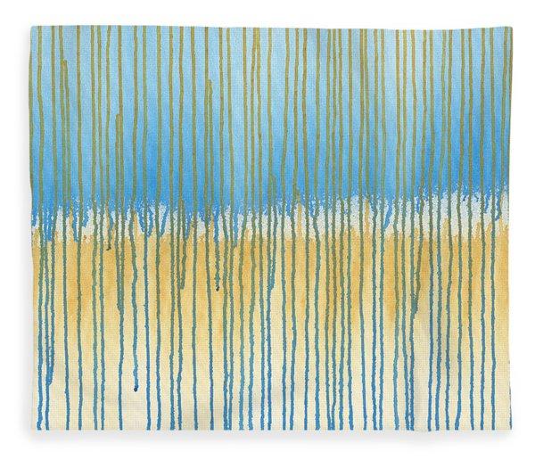Blue And Gold Fleece Blanket
