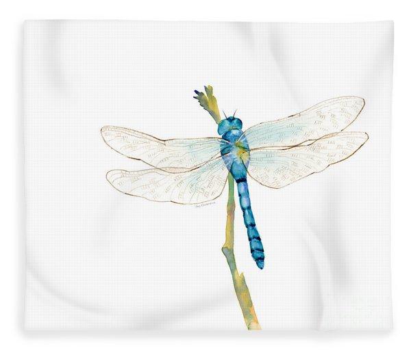 Blue Dragonfly Fleece Blanket
