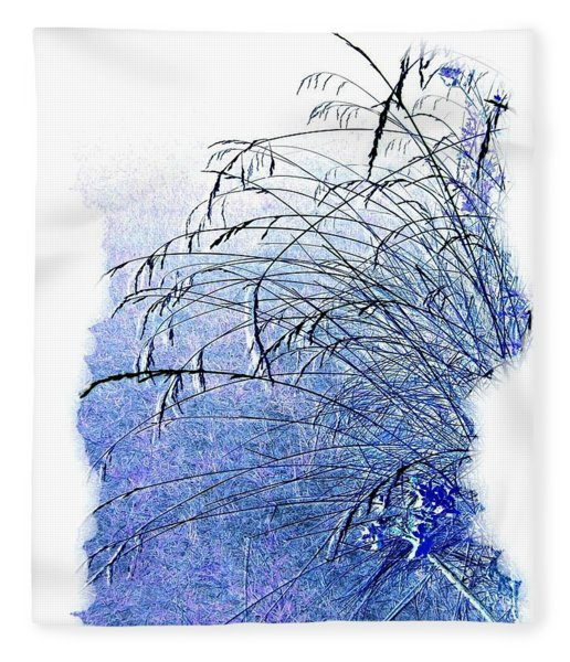 Blue Grass Fleece Blanket