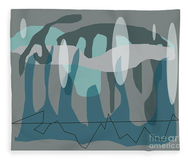 Blue Grey Jazz Fleece Blanket