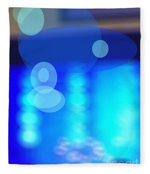 Blue Spheres Fleece Blanket