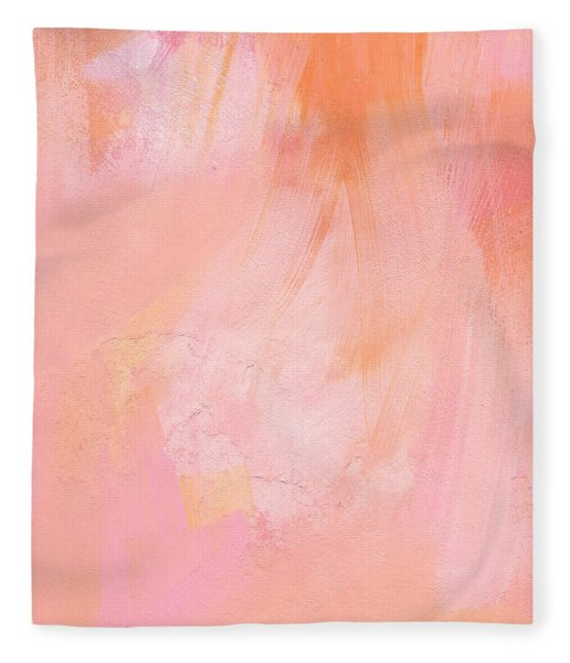 Blush- Abstract Painting In Pinks Fleece Blanket