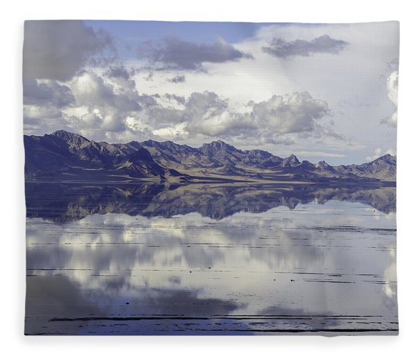 Bonneville Salt Flats Fleece Blanket
