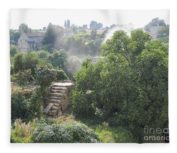 Bordeaux Village Cloud Of Smoke  Fleece Blanket