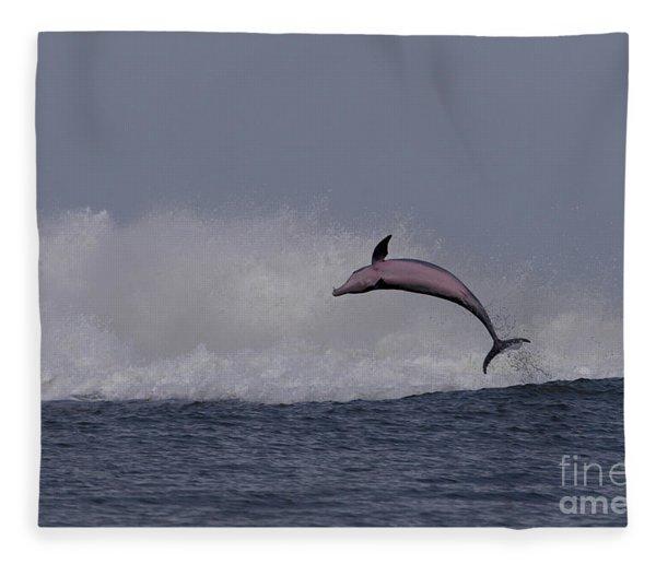 Bottlenose Dolphin Photo Fleece Blanket