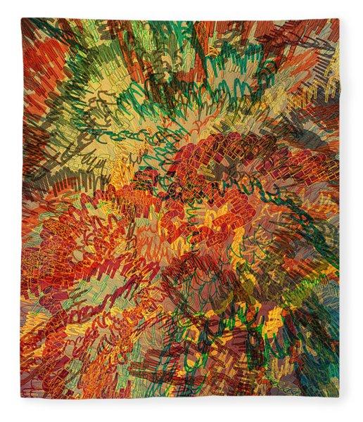 Fleece Blanket featuring the digital art Bounce by Matt Lindley