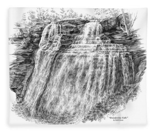 Brandywine Falls - Cuyahoga Valley National Park Fleece Blanket